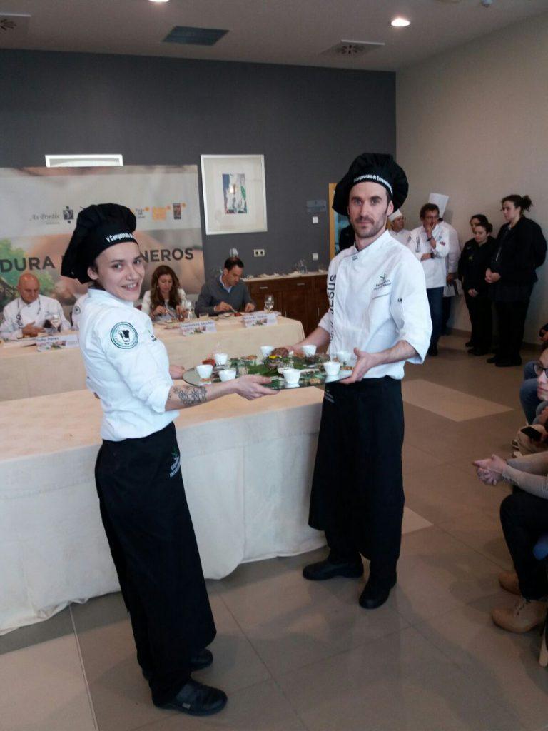 Karol Fragua y Jesús Aceña en la Competición
