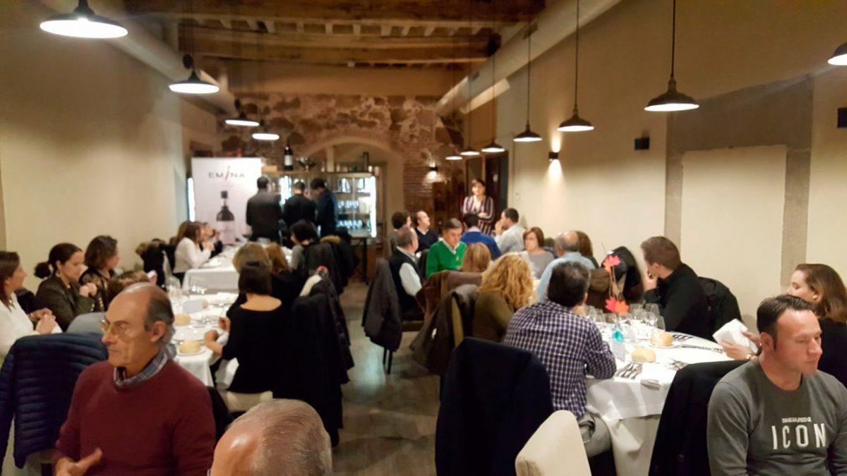 Las Bodegas Emina visitan nuestro restaurante en Plasencia