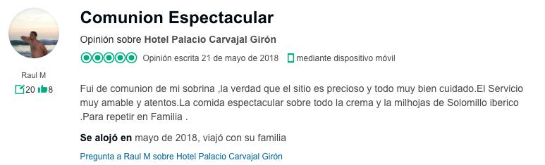 opinion_comunion_hotel_palacio_carvajal_giron